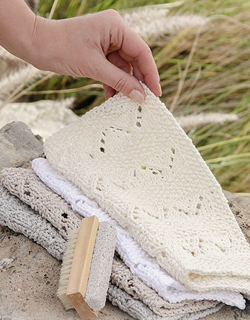 Shades of Sand Washcloth - lace knitting patterns