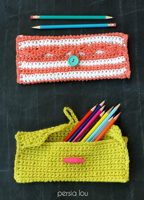 Simple Pencil Pouch - quick crochet projects