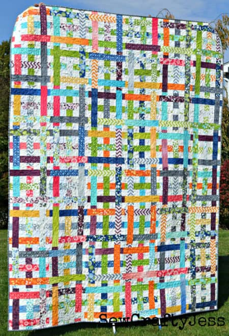 Simply Woven - strip quilt patterns