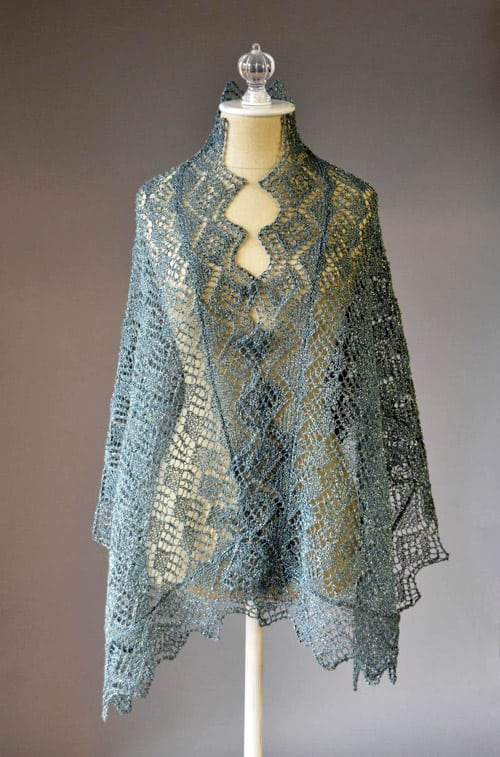 Whimsical Wrap - lace knitting patterns