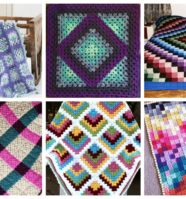 11 Modern Granny Square Crochet Baby Blanket Patterns