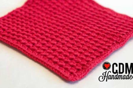 Crunch Stitch - crochet washcloth