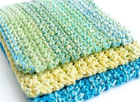 Easy _ Thick - crochet washcloth