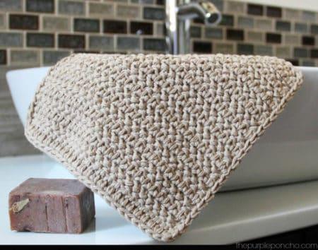 Herringbone - crochet washcloth
