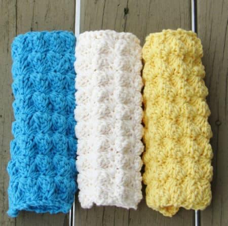 Textured - crochet washcloth