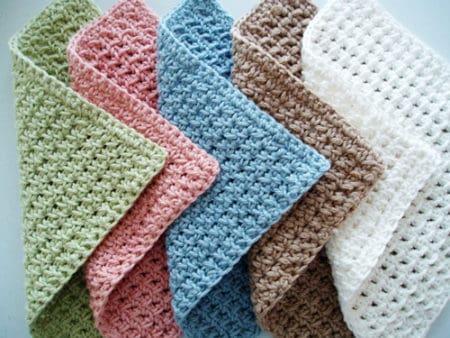 Waffle - crochet washcloth