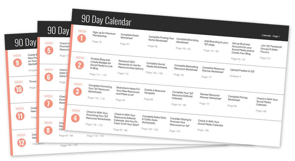 90 Day Calendar.90 Day Calendar Graphic Ideal Me