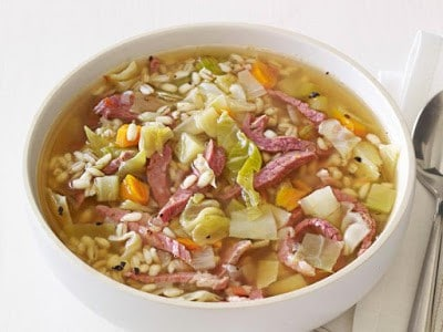 Ham and Cabbage Soup - Canning homemade soups can help you save money, gain control over what's in your food, and save you time when you need a quick meal. Make your own canned soup with one of these delicious twelve recipes today.