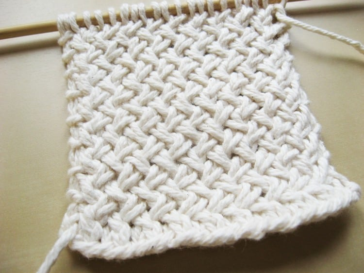 Basket Weave Pattern Knitting : 18 Easy Knitting Stitches You Can Use for Any Project - Ideal Me
