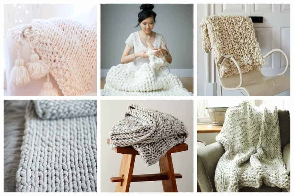 11 Cozy Chunky Blankets Youll Want To Knit This Weekend Ideal Me
