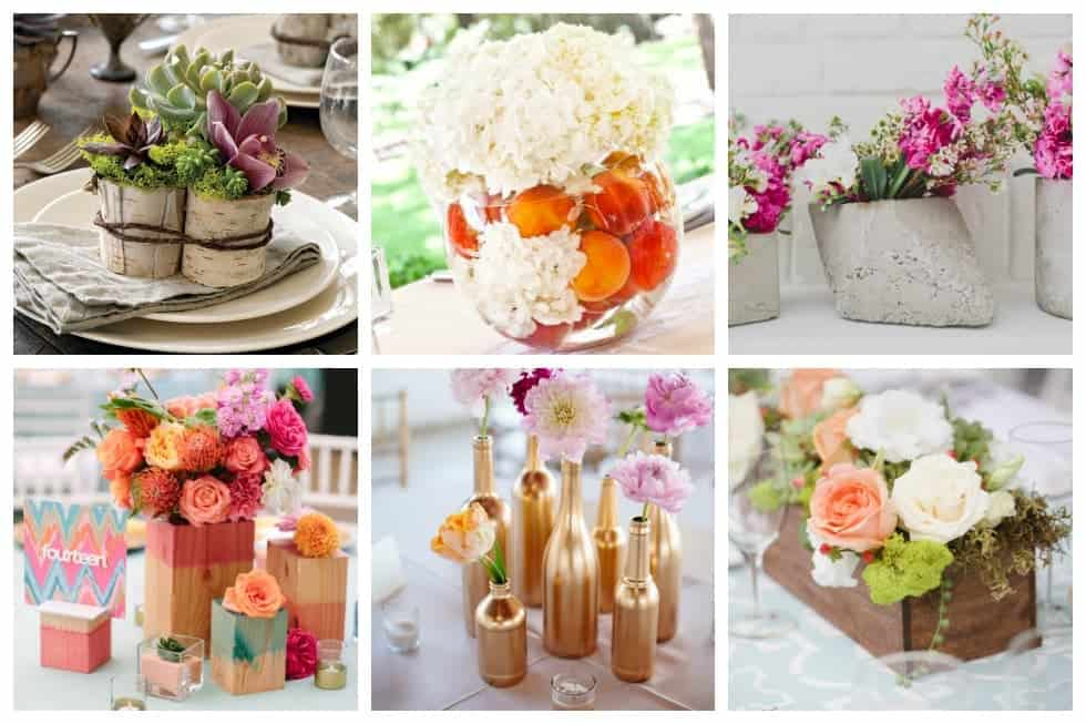wedding table decorations without flowers 25 stunning diy wedding centerpieces to make on a budget 1188