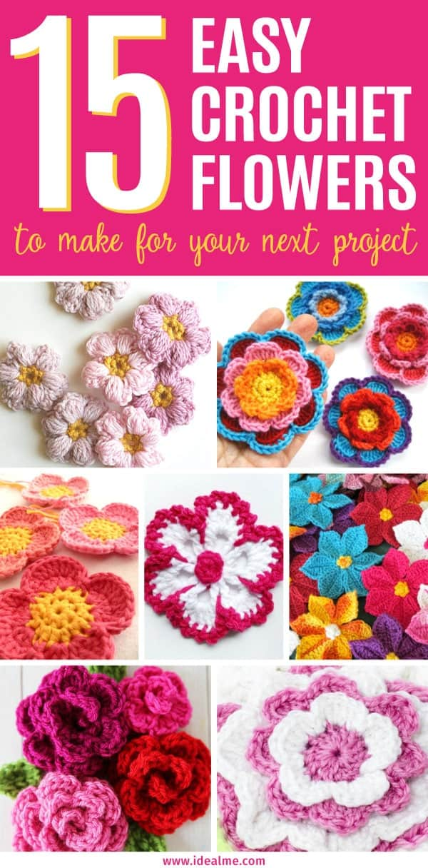 Easy Crochet Flower Patterns To Make Ideal Me