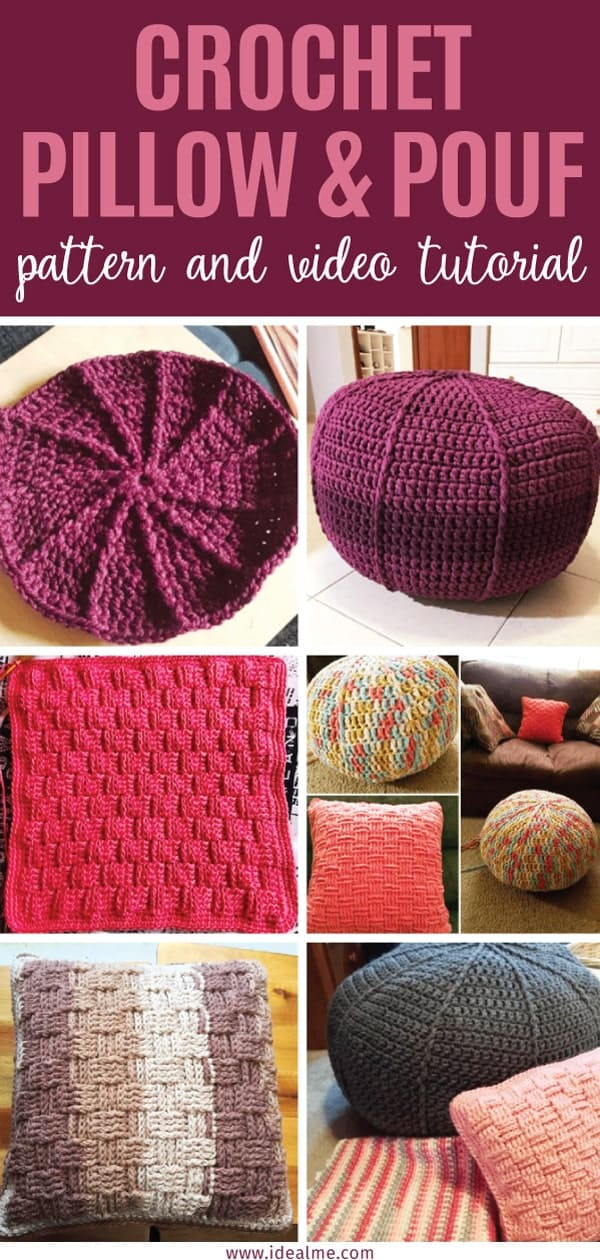 Pillow And Pouf Crochet Pattern Ideal Me