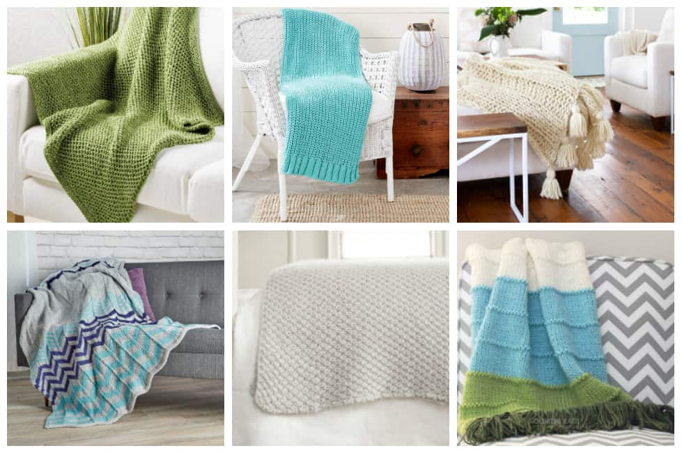 18 Easy Knit Throws To Make To Add A Little Warmth To Your Home
