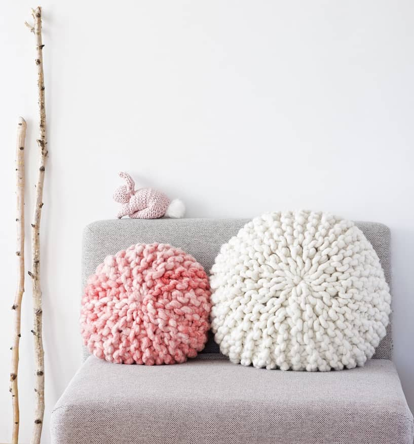 Knit Round Pillows Ideal Me
