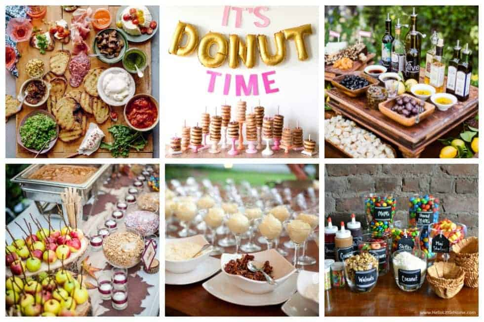 20 food bar ideas perfect for your next event ideal me for Food bar ideas for a party