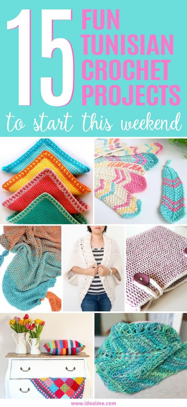 Free Easy Tunisian Crochet Patterns Ideal Me