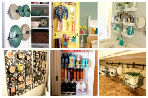 We've gathered here 16 easy storage ideas for small spaces that you can copy - whether that be in your bedroom, bathroom, kitchen or any other space!