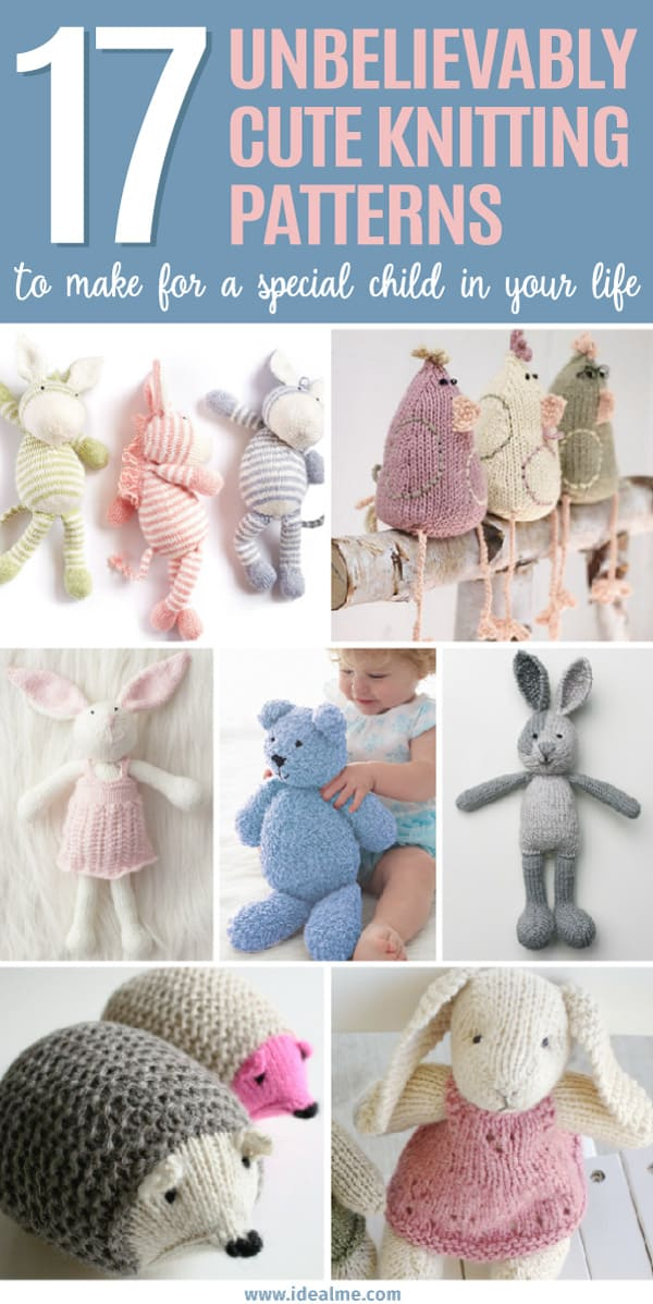 Easy Cute Knit Toy Patterns Ideal Me