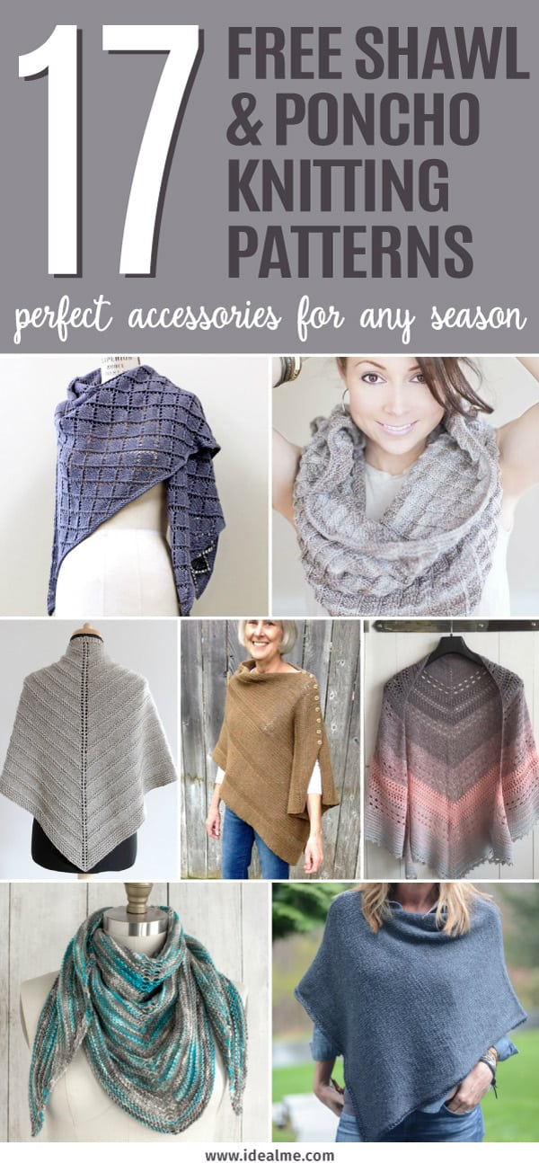 Free Shawl And Poncho Knitting Patterns Ideal Me