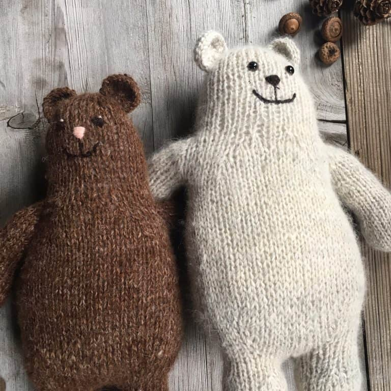 Otso Free Bear Knitting Pattern Ideal Me