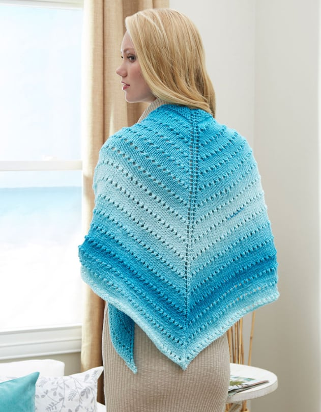 Simple Lace Triangle Shawl Knitting Pattern Ideal Me