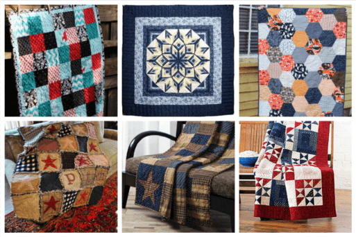 For the more traditional types, country quilts are the best to bring that homey, rustic feel to a room or furniture.