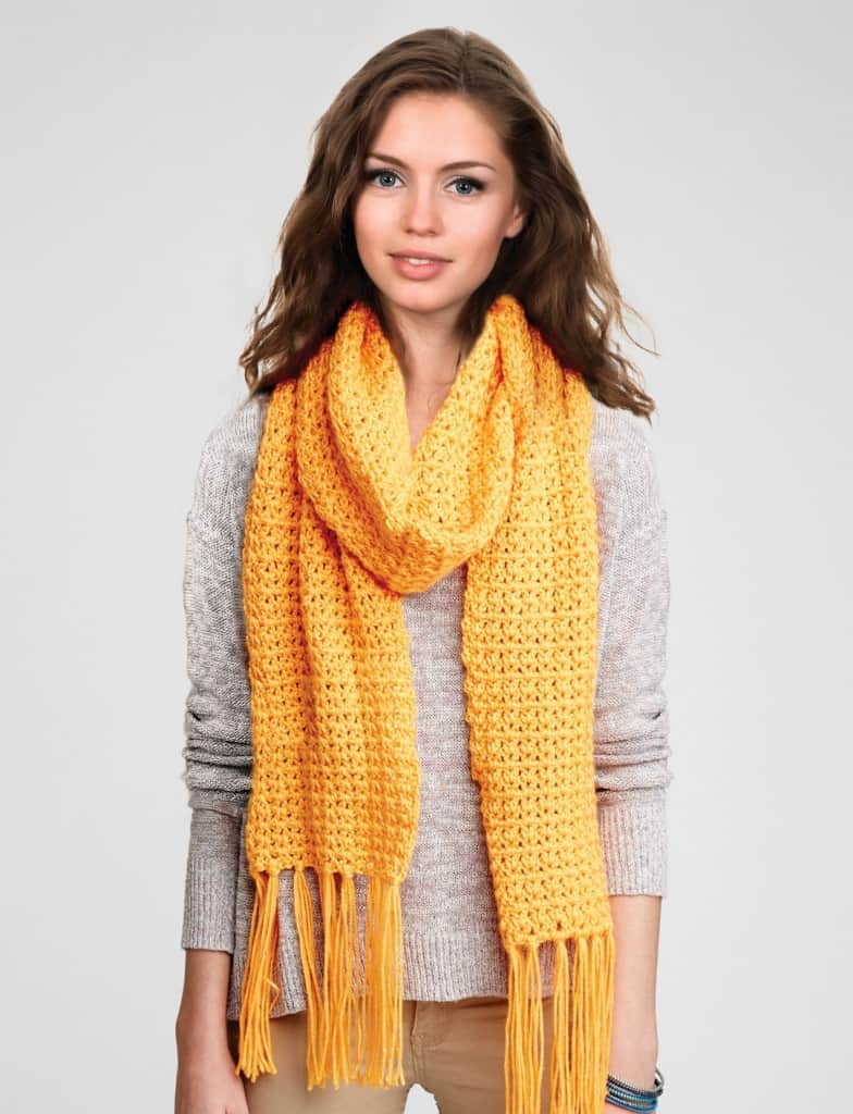 Simple Crochet Scarf Pattern From Yarnspirations Ideal Me
