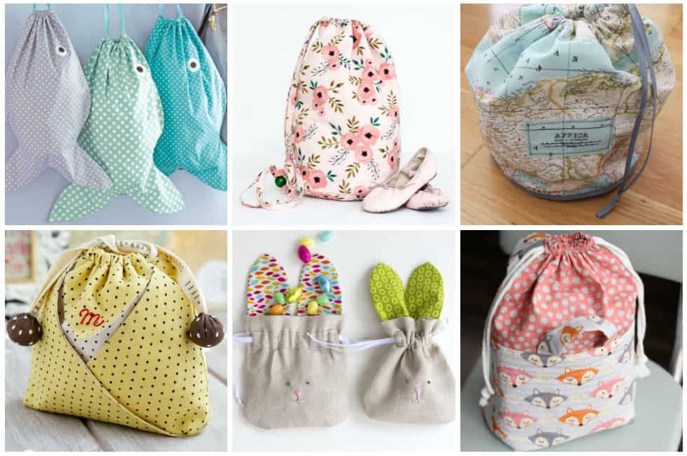 17 Easy Drawstring Bag Patterns To Sew In One Hour Or Less Ideal Me