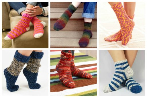 For a crafter, making crochet socks is a no-brainer - cool weather make socks!