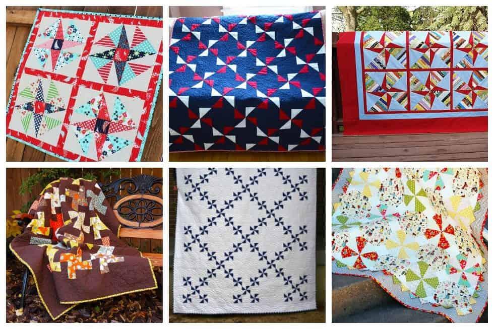 Pinwheel Charm Quilt Pattern Pieced UD
