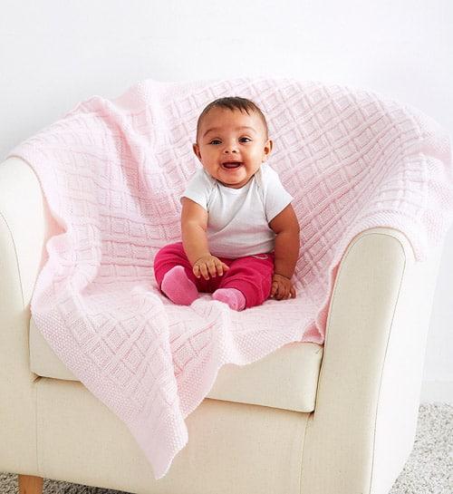 Big Baby Blocks - free baby blanket knitting patterns