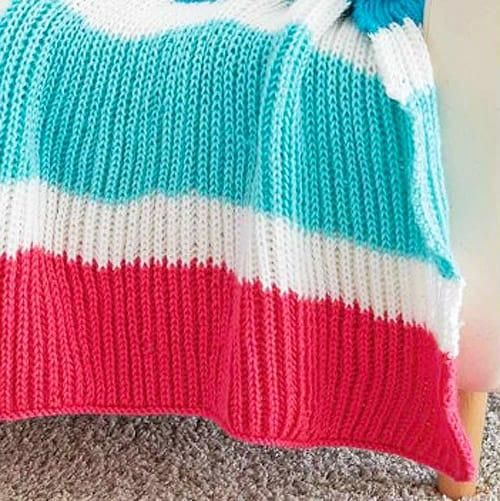 Bold Stripes - free baby blanket knitting patterns