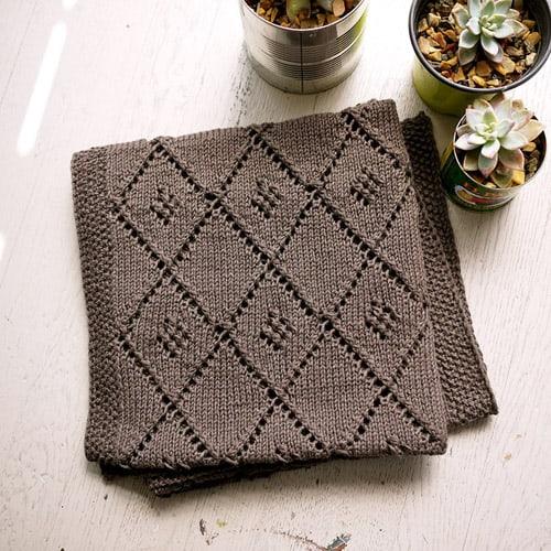 Chocolate Parfait - free baby blanket knitting patterns