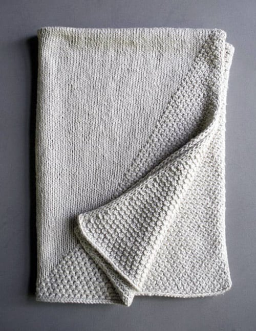 Cozy Corners - free baby blanket knitting patterns
