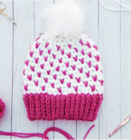 Super Quick Fair Isle Crochet Beanie