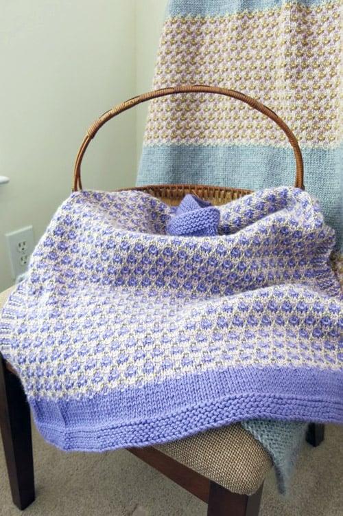 Mosaic - free baby blanket knitting patterns
