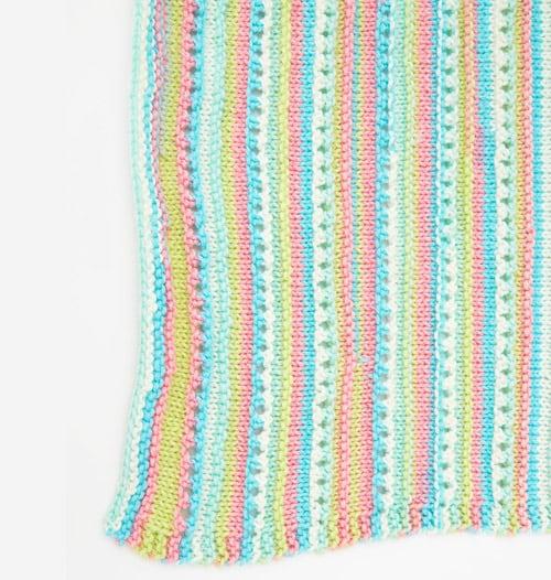 Self-Striping - free baby blanket knitting patterns