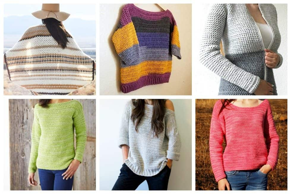 63212f38d871 20 Free Crochet Sweater Patterns Perfect for Chilly Days - Ideal Me