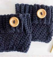 Even Moss Stitch Boot Cuff Crochet Pattern