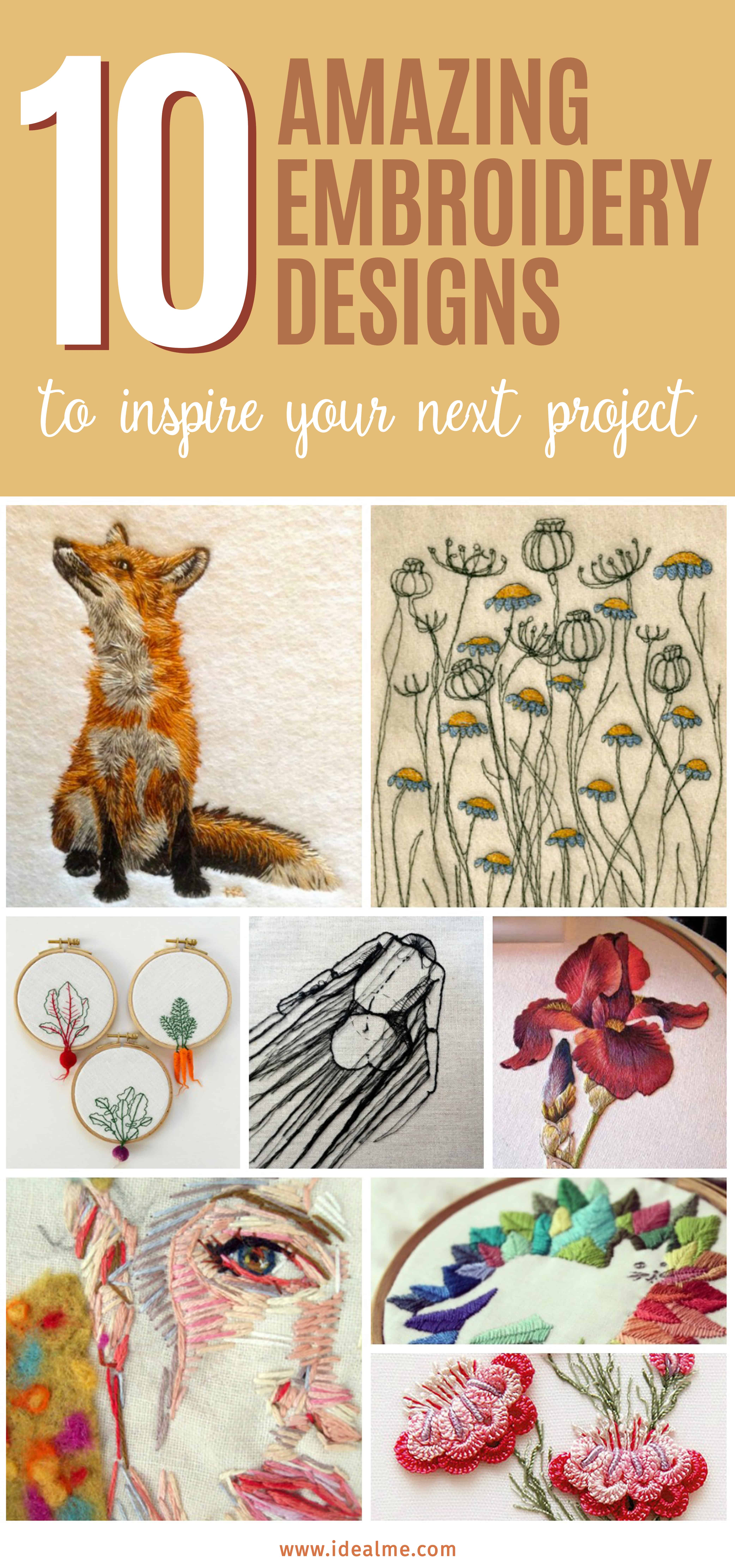 10 Amazing Embroidery Designs Ideal Me