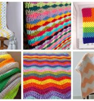 12 Simple Crochet Patterns for Colorful Blankets