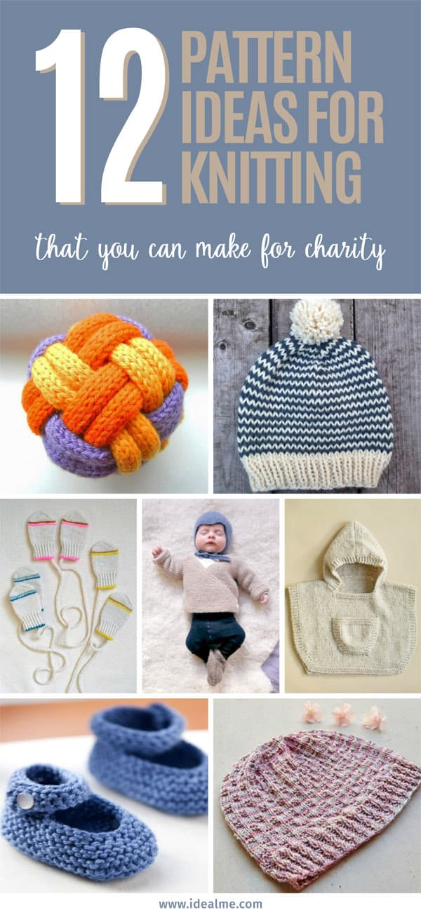 12 pattern ideas for knitting charity - Ideal Me