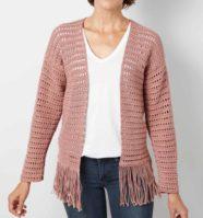 Fringe Cardigan Crochet Pattern