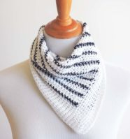 Striped Neck Scarf Crochet Pattern