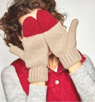 Color Pop Mittens Crochet Pattern