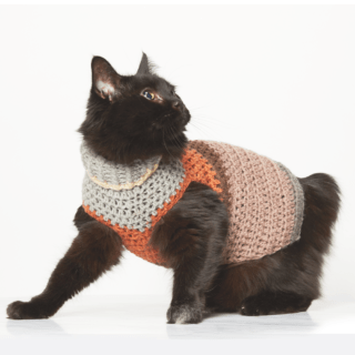 Small Stripy Dog Sweater Crochet Pattern