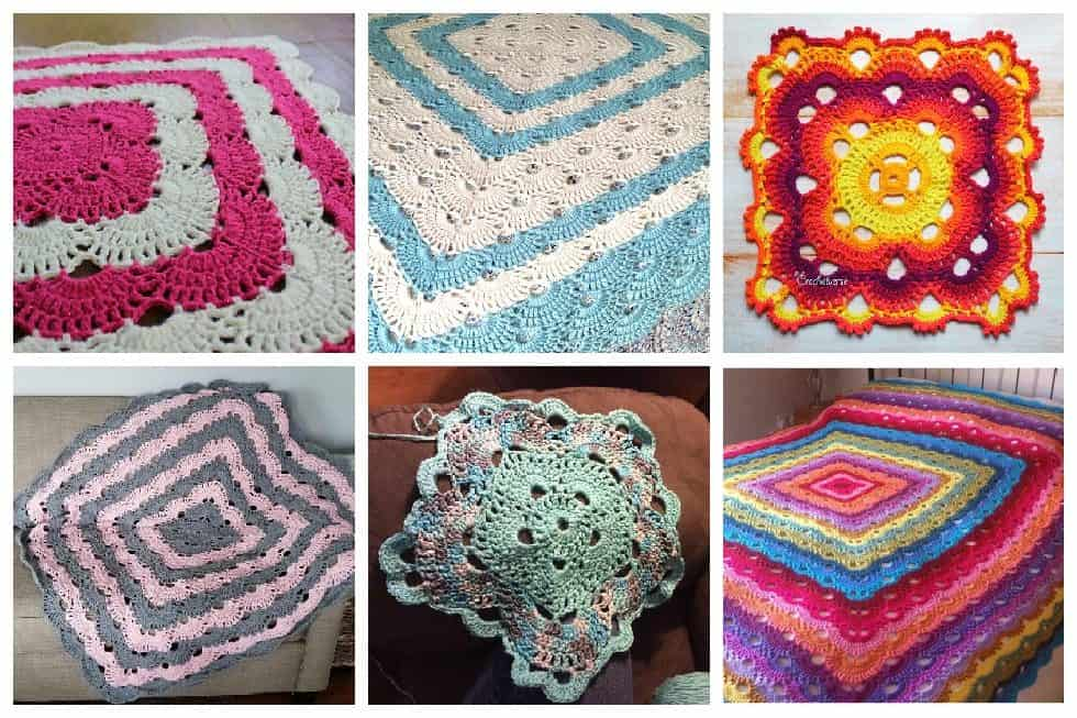 Quick /'n Easy Crocheting patterns Lacy Squares ~ Tablecloth /& Afghan Bedspread