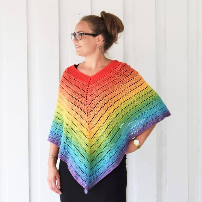 Classical Attitude Poncho - If you want to learn how to make a poncho, this list of 18 free crochet poncho patterns will help you. Pick your favorite from this bunch and start creating. #CrochetPonchoPatterns #FreeCrochetPatterns #CrochetAddict