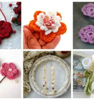 12 Easy Crochet Flower Accessories
